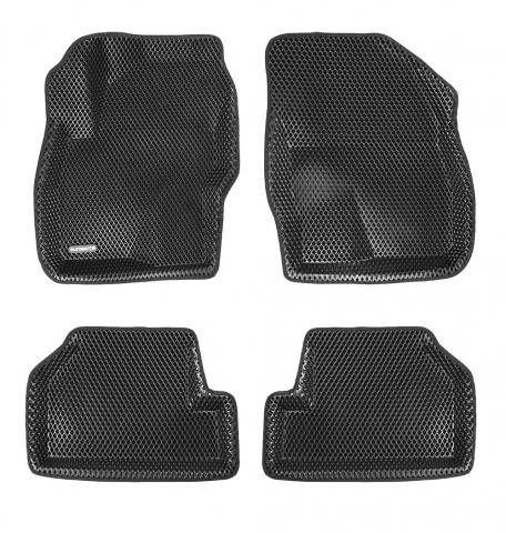 3D коврики Euromat для FORD Focus 2 HB/SD/WAG (2005-2011), EVA, Черный
