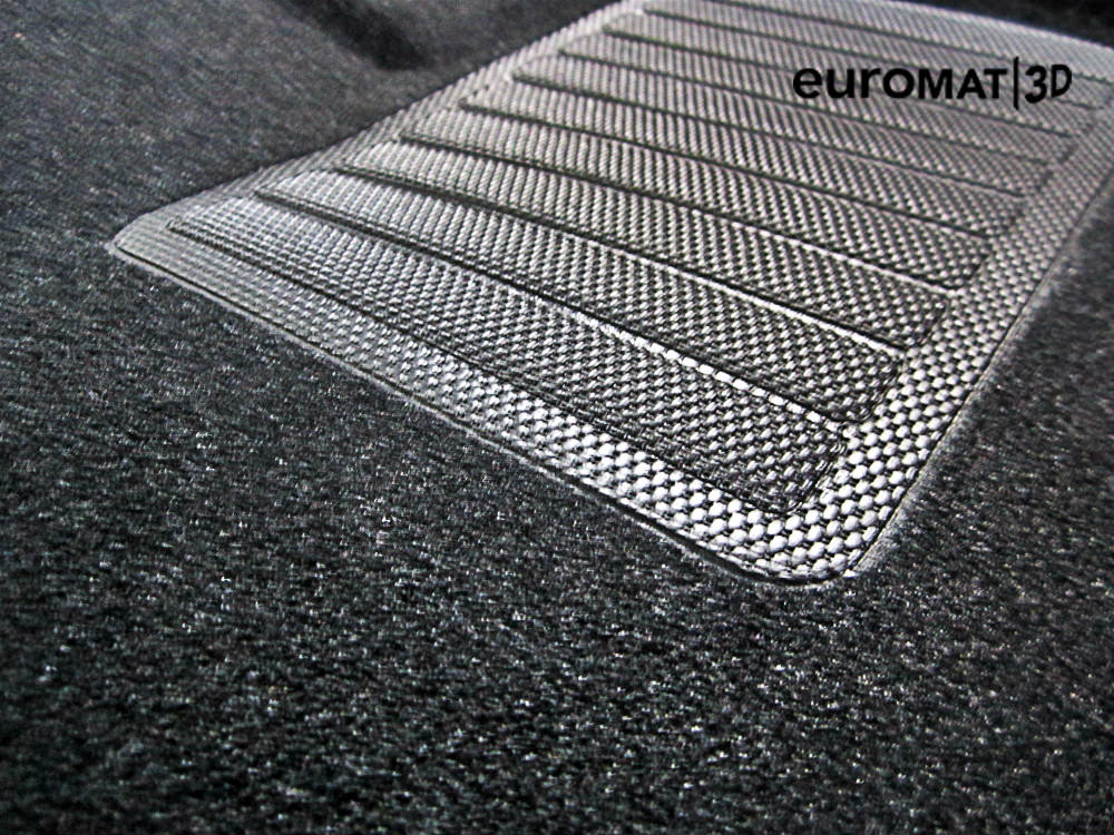 3D коврики Euromat для MERCEDES W221 (S-Class) (2005-2013) Long, Business, Черный