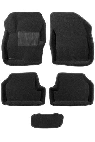 3D коврики Euromat для FORD Focus 2 HB/SD/WAG (2005-2011), Business, Черный