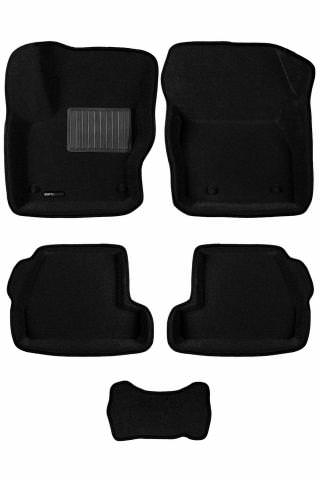 3D коврики Euromat для FORD Focus 3 HB/SD/WAG (2011-2019), Business, Черный