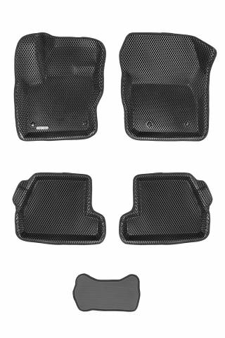 3D коврики Euromat для FORD Focus 3 HB/SD/WAG (2011-2019), EVA, Черный